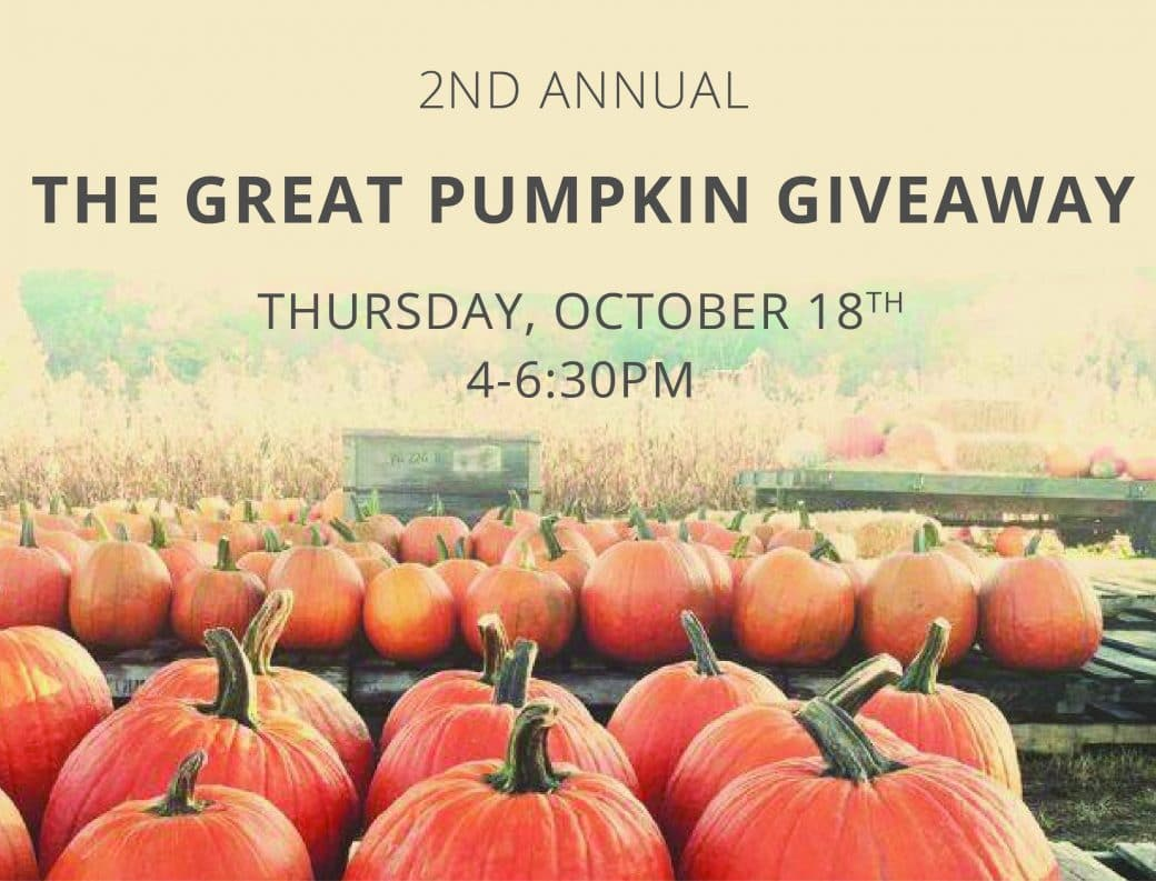 """2nd Annual """"The Great Pumpkin Giveaway"""""""